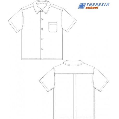 Camisa en color blanco de manga corta para chico. Para secundaria y bachiller. Del colegio Sagrado Corazón de Tafira