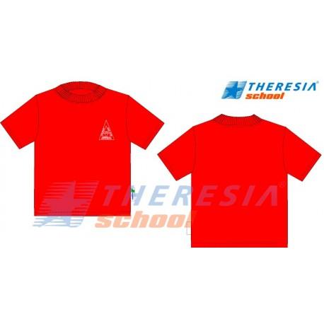 Camiseta de manga corta en color rojo