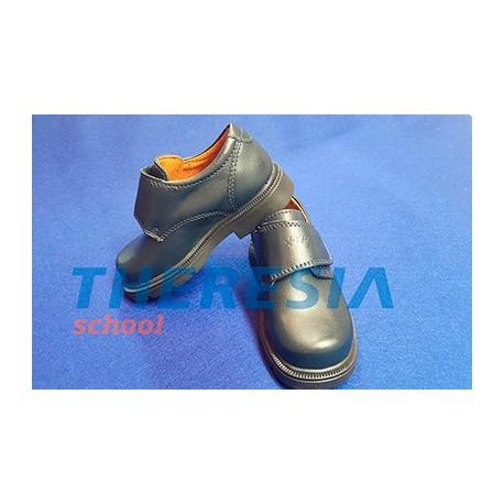 Zapato colegial marino con velcro