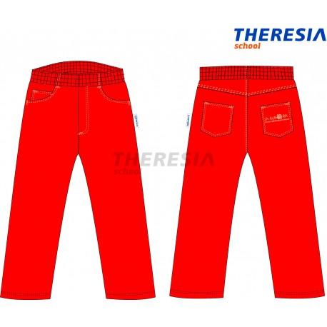 Pantalón pana invierno rojo.