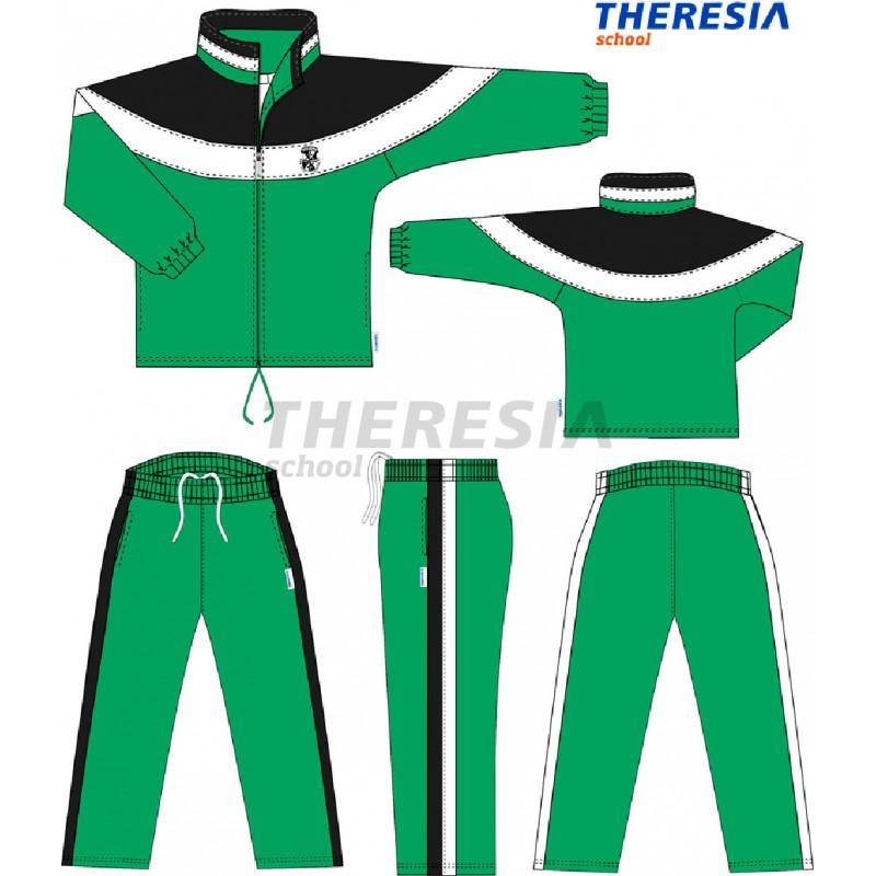 9359cc9c69a00 Chándal en tejido de micropana combinado verde