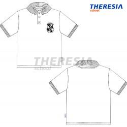 Polo manga corta uniforme tejido granito color blanco