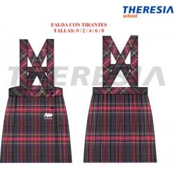 Falda con tirantes uniforme cuadro