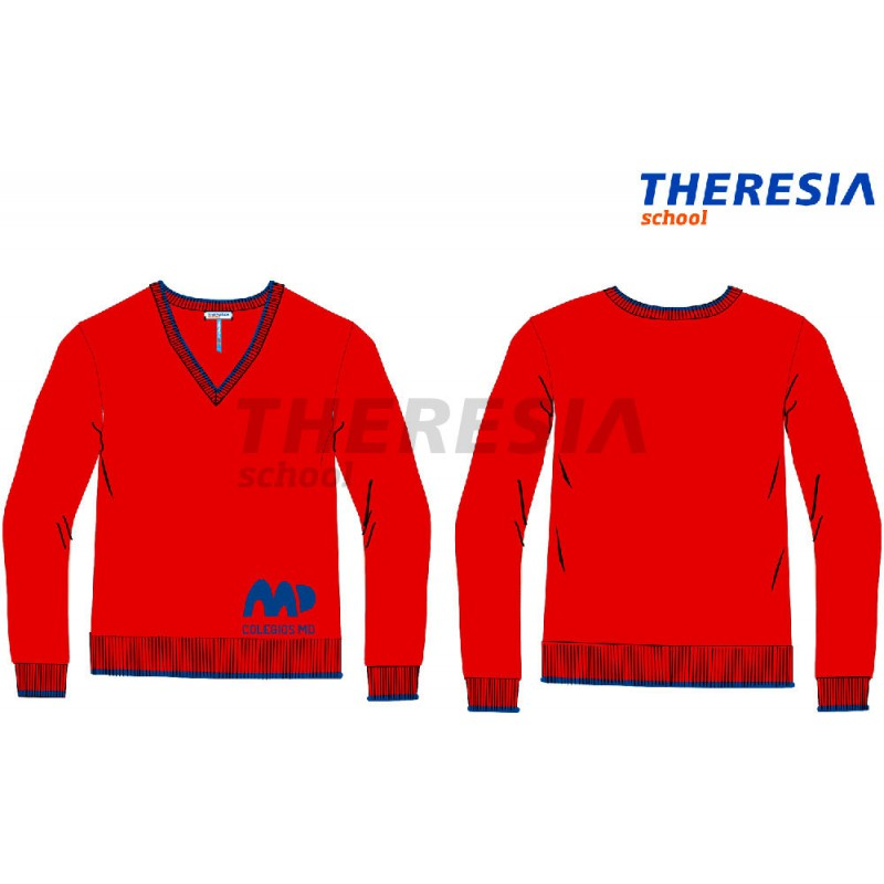 d9786ea71f580 Suéter uniforme granate marino - Theresia School