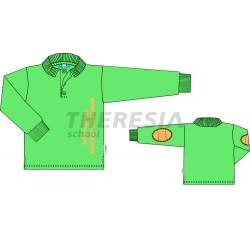 Chaqueta de chándal infantil verde y negro