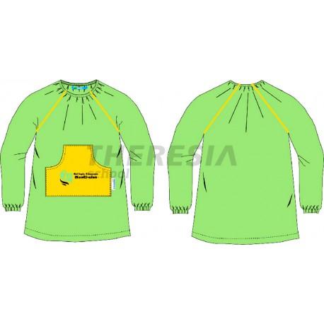 Babero infantil verde y amarillo