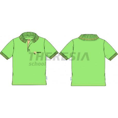 Polo manga corta verde con bordado