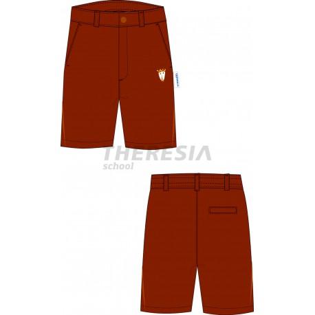 Bermuda uniforme color marrón con bordado