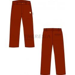 Pantalón uniforme marrón con bordado