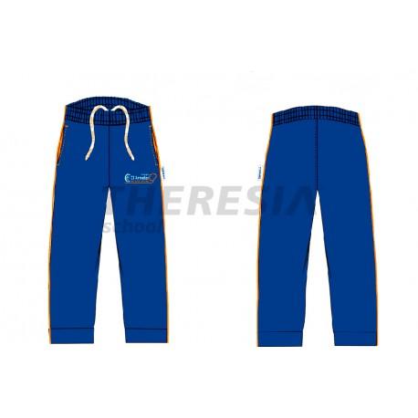 Pantalón chándal acetato marino, naranja y blanco con bordado