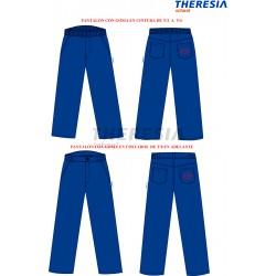 Pantalón de uniforme, de color marino con bolsillos y bordado.