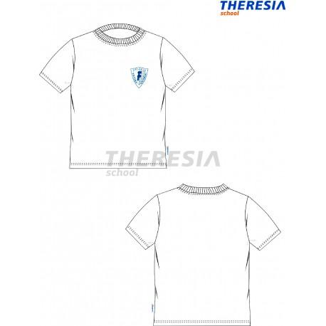 Camiseta de manga corta en color blanco y con serigrafía. Del colegio Fatima