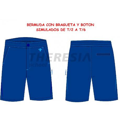 Bermuda engomada uniforme