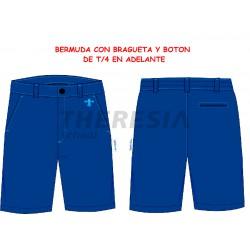 Bermuda uniforme con botón