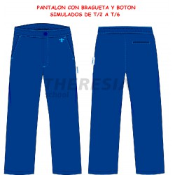 Pantalón de uniforme engomado ciclo infantil