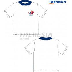Camiseta manga corta en color blanco y con serigrafía