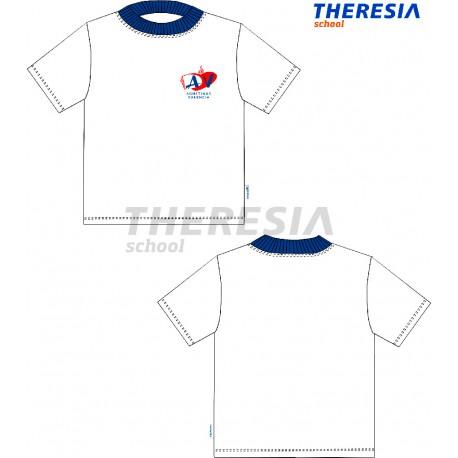 Camiseta de manga corta en color blanco y con serigrafía. Del colegio Agustinos