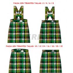 Falda uniforme cuadro