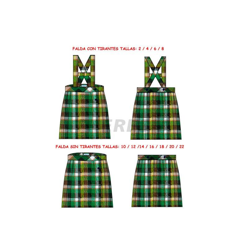 fedfc2fb83a52 Falda uniforme cuadro - Theresia School
