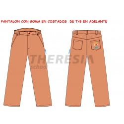 Pantalón de uniforme camel