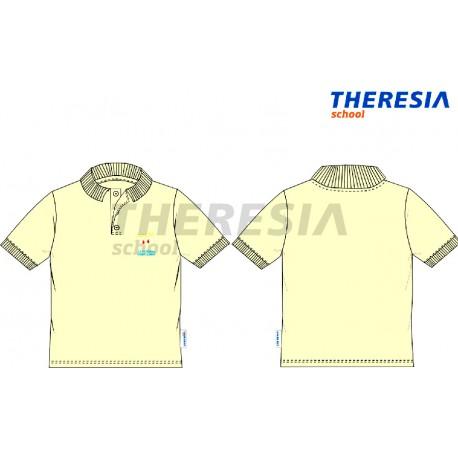 Polo manga corta uniforme color marfil