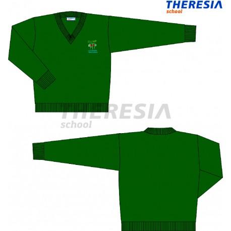 Suéter uniforme verde