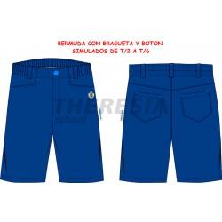 Bermuda de uniforme engomada con bordado