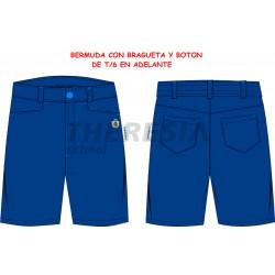 Bermuda marino de uniforme con bordado