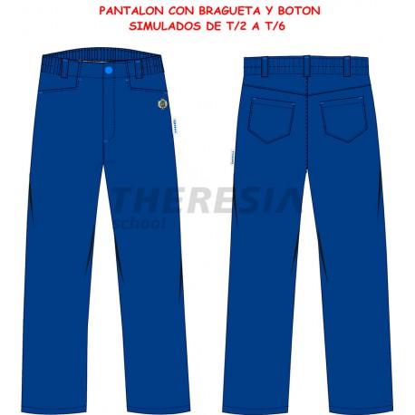 Pantalón uniforme engomado marino con bordado