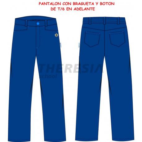 Pantalón uniforme marino con bordado
