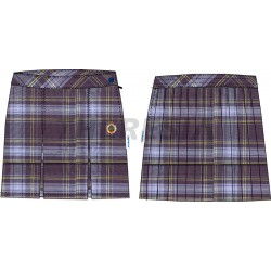 Falda de uniforme de cuadros sin tirantes