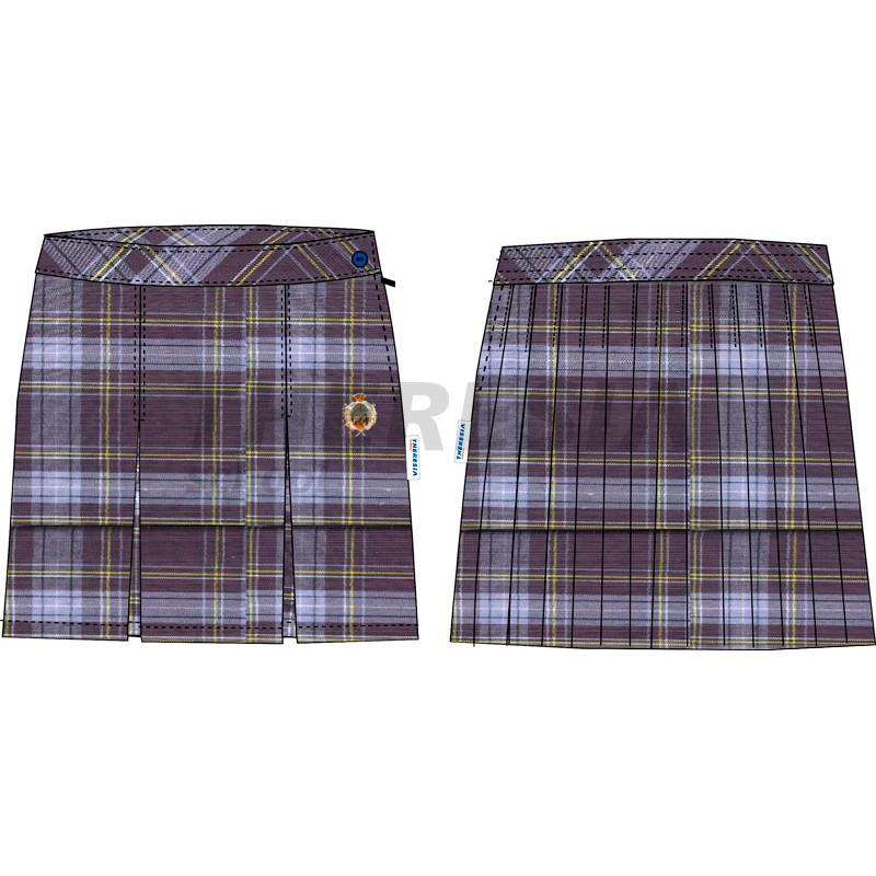 3bdc3976040a8 Falda de uniforme de cuadros sin tirantes - Theresia School