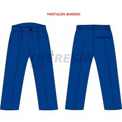 Pantalón uniforme marino tejido sarga poliéster