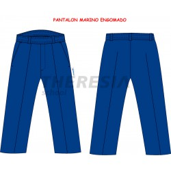 Pantalón de uniforme marino engomado