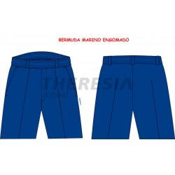 Bermuda engomada uniforme marino
