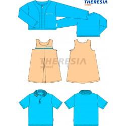 Conjunto uniforme de verano niña