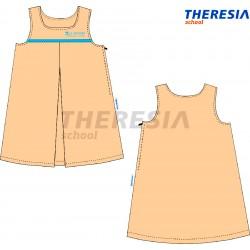 Pichi uniforme de verano en color arena y celeste