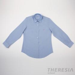 Camisa chica celeste con bordado (para secundaria y bachillerato)