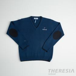 Suéter unisex azul con coderas (desde 4º primaria hasta 2º bach)