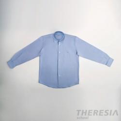 Camisa chico celeste con bordado (secundaria y bachiller)