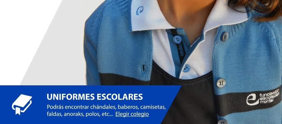 Uniformes escolares, chandal, babero, camiseta, falda, anorak, polo, colegio